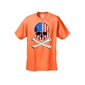 Men's T-Shirt USA Flag Skull Crossed Bones American Pride Stars/Stripes Patriotic - Thumbnail 7