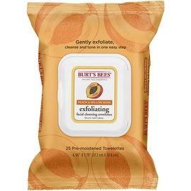 Burt's Bees Facial Cleansing Towelettes, Peach & Willow Bark 25 ea