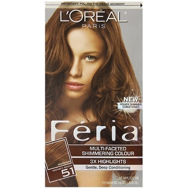 L'Oreal Paris Feria Multi-Faceted Shimmering Colour 3x Highlights Warmer Bronzed Brown [51]