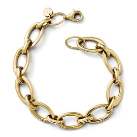 Italian 14k Gold Polished Link Bracelet - 7.25 inches