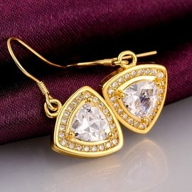 18K White Gold Drop Down Earrings with Crystal Swarovski