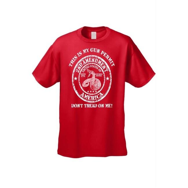 80d9c027 Shop Men's T-Shirt Don't Tread On Me 2nd Amendment USA Gun Permit ...