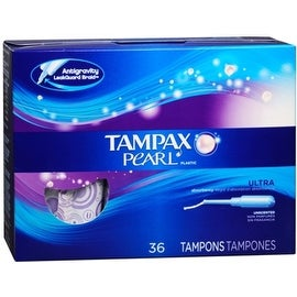 Tampax Pearl Tampons Ultra Absorbency Unscented 36 Each