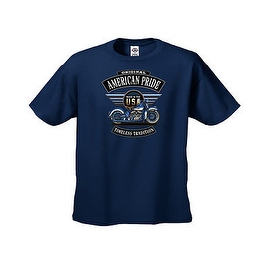 MEN'S BIKER T-SHIRT Original American Pride TIMELESS TRADITION S-XL 2X 3X 4X 5X (More options available)