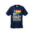 Men's T-Shirt I Love My Crazy Gay Husband LGBT HOMOSEXUAL Pride Unisex - Thumbnail 3
