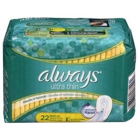 Always Ultra Thin Pads Regular, Unscented 22 ea