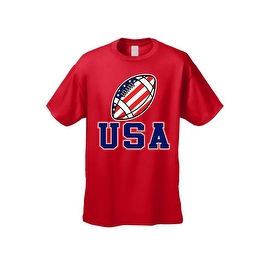 Men's T-Shirt USA Flag Football Game Pride American Sports Bar Beer Patriotic