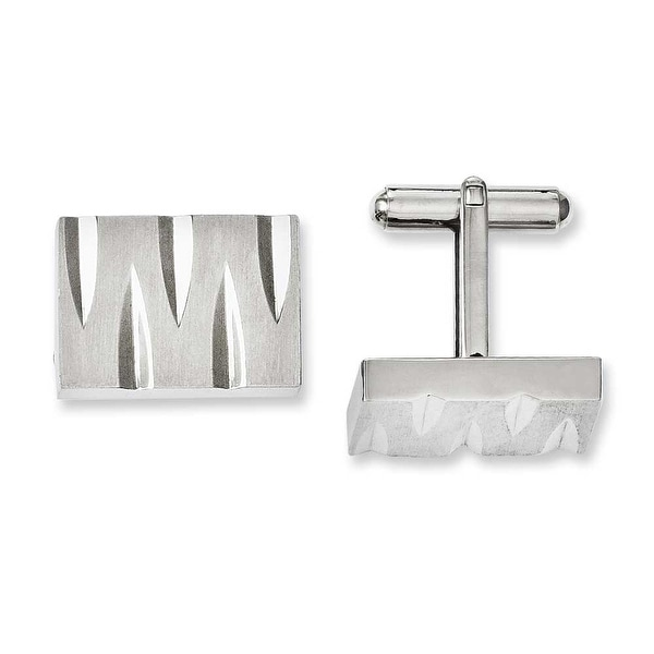 Chisel Stainless Steel Brushed & Polished Cuff Links
