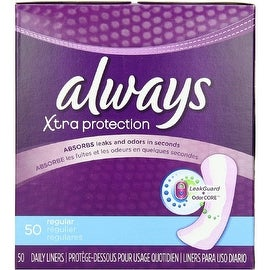 Always Xtra Protection Regular Daily Liners 50 ea