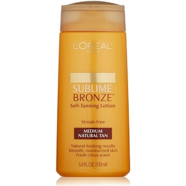L'Oreal Paris Sublime Bronze Self-Tanning Lotion, Medium Natural Tan 5 oz