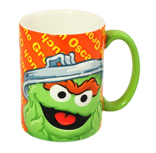 Gund Sesame Street Oscar the Grouch Ceramic Mug 12oz