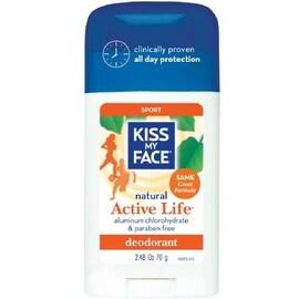 Kiss My Face Natural Active Life Aluminum Free Deodorant Stick, Sport 2.48 oz