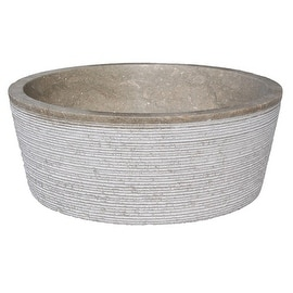 Brushed Natural Stone Vessel Sink - Sea Grass Marble