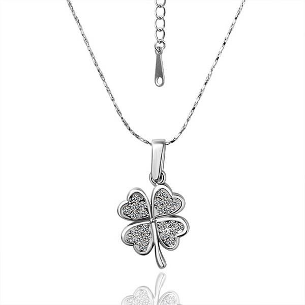 Mini Petite Clover Shape Bridal Necklace