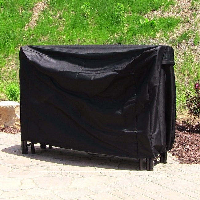 Sunnydaze Black Heavy Duty Log Rack Cover