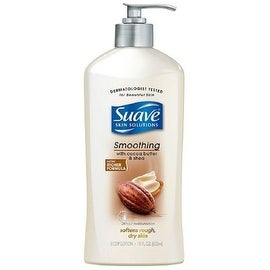 Suave Skin Solutions Body Lotion, Smoothing with Cocoa Butter & Shea 18.0 oz