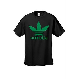MEN'S FUNNY T-SHIRT Cannabis MARIJUANA WEED GRASS POT SMOKING TEE LEAF S-5XL