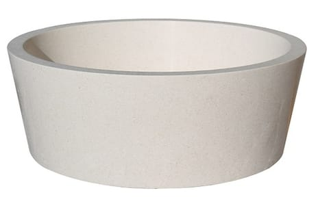 Tapered Natural Stone Vessel Sink - Limestone