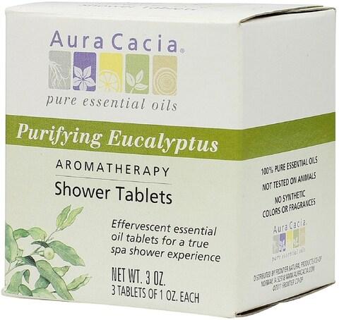 Aura Cacia Aromatherapy Shower Tablets, Purifying Eucalpytus 3 ea
