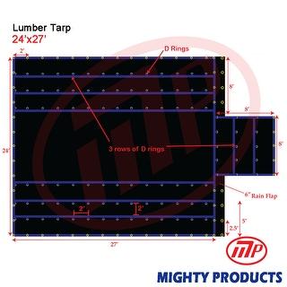 Xtarps - 24' x 27'  Truck Tarp - Lumber Tarp - Heavy Duty, Industrial Grade