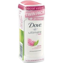 Dove Ultimate Go Fresh Anti-Perspirant Deodorant Revive Pomegranate & Lemon Verbena 2.6 oz, Twin Pack