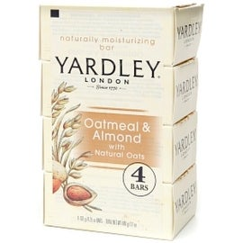 Yardley London Moisturizing Bars Oatmeal & Almond With Natural Oats 4 ea