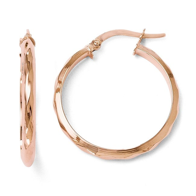 Italian 14K and Rose Gold-Plated Polished Hoop Earrings