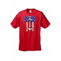Men's USA Flag T-Shirt Anchor Navy Stars & Stripes Sailor American Pride Tee - Thumbnail 4