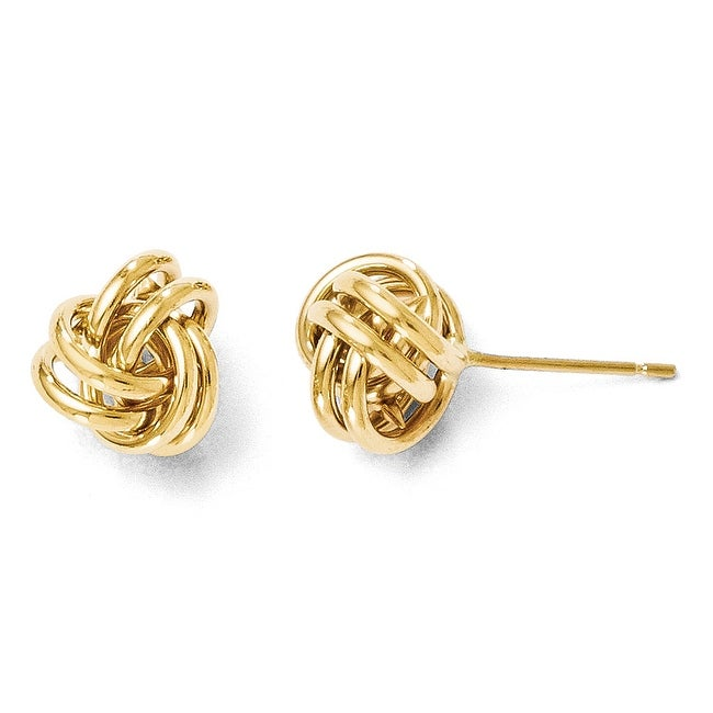 14k Gold Polished Post Earrings