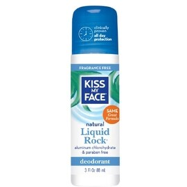 Kiss My Face Liquid Rock Roll-On Deodorant, Fragrance Free 3 oz