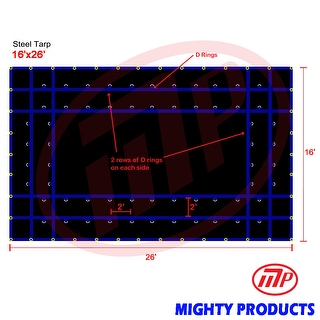 Xtarps - 16' x 26'  Truck Tarp - Steel Tarp - Heavy Duty, Industrial Grade