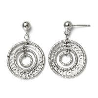 Italian Sterling Silver Post Dangle Earrings