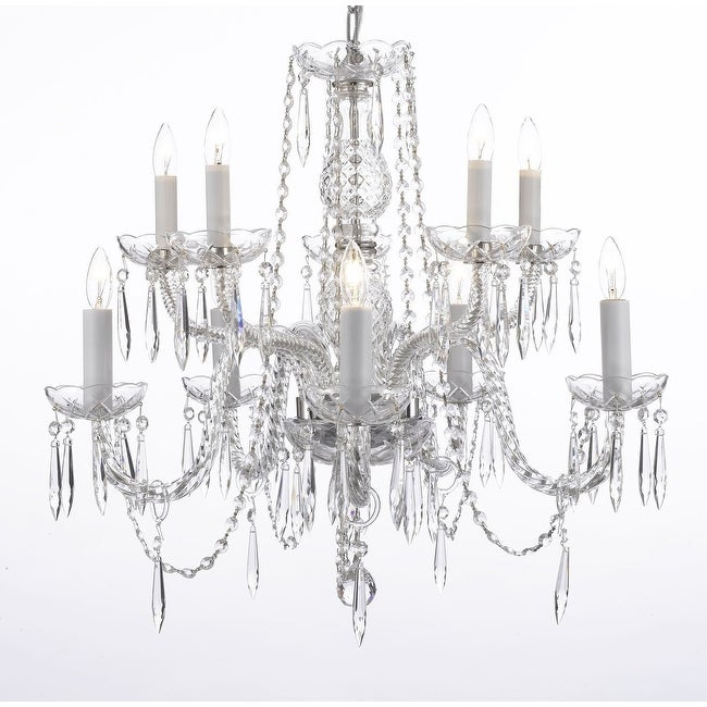 Plug In Icicle Waterfall Dining Room Chandelier Lighting H25 x W24
