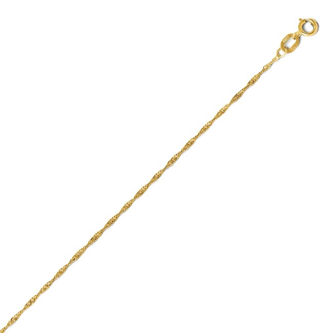 Italian 14k Gold Light Singapore Chain