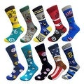 Men's Groomsman Novelty Cotton Art Casual Socks (10 PAIRs) 10 - 13