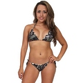 Women's Green Camo True Timber 2-Piece Ruffle Bikini Swimwear Swimsuit Beach Camouflage - Thumbnail 0