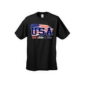 Men's USA Flag T Shirt Distressed Red, White & Blue Pride Old Glory Stars/ Stripes - Thumbnail 3