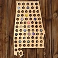 Alabama Beer Cap Map Wall Art - Thumbnail 0