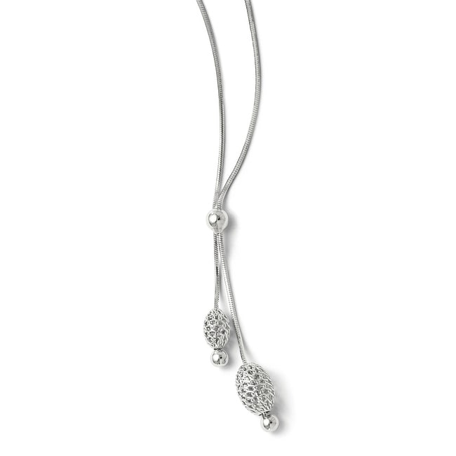 Italian Sterling Silver Necklace with 2in ext
