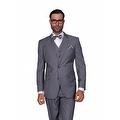 ST-100 Men's 3pc Solid CHARCOAL Suit, Modern Fit, 2 Button, 2 Side Vent, Flat Front Pants - Thumbnail 0