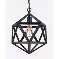 Iron Polyhedron Vintage Barn Metal Pendant Chandelier Lighting