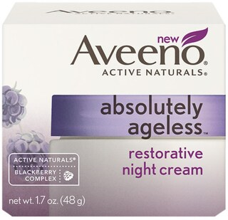 AVEENO Active Naturals Absolutely Ageless Restorative Night Cream, Blackberry 1.7 oz (4 options available)