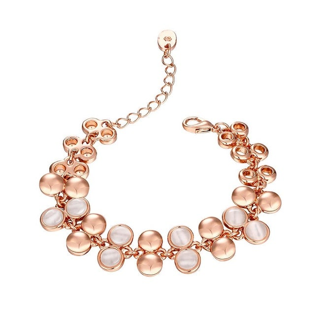 Shop 18K Rose Gold Plated Natural Gemstone Emblems Bracelet with Swarovski  Elements - Free Shipping On Orders Over  45 - Overstock - 11497562 d24e60a85e80