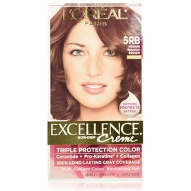 L'Oreal Paris Excellence Creme Triple Protection Haircolor Medium Reddish Brown [5RB]