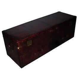 Leather Storage Chest Trunk and Box Bed Room Furniture