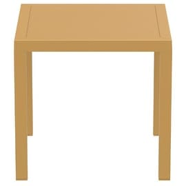 Ares Resin Square Dining Table, Teak Brown