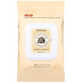 Burt's Bees Face & Hand Cloths, Fragrance Free 30 ea
