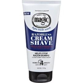 Magic Shave 6-ounce Razorless Cream Shave Light Fresh Scent Regular Strength