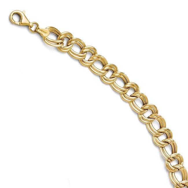 14k Yellow Gold Fancy Link Bracelet