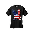 Men's T-Shirt USA Flag American Bald Eagle Stars & Stripes Old Glory Pride Patriotic - Thumbnail 2
